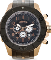 Metal Chrono Series 55mm XL Rose Gold Steel Chronograph Diver
