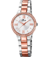 18392/2  30.50mm Trendy Bicolor Rose Quartz Watch