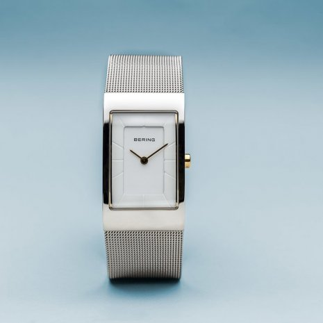 Two-Tone Square Ladies Quartz Watch Collection Printemps-Eté Bering
