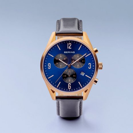Blue design chronograph with date Collection Printemps-Eté Bering