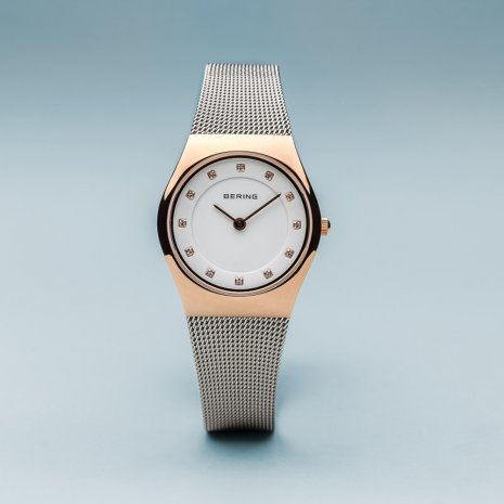 Two-tone ladies design watch with Swarovski Crystals Collection Printemps-Eté Bering