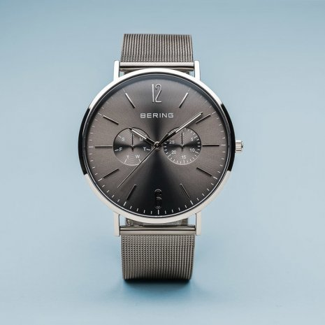 Gunmetal Gents Watch with DayDate Collection Automne-Hiver Bering