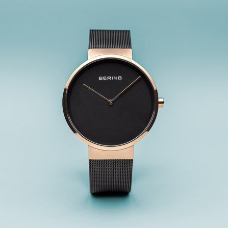 Rose Gold & Black Quartz Watch Collection Printemps-Eté Bering