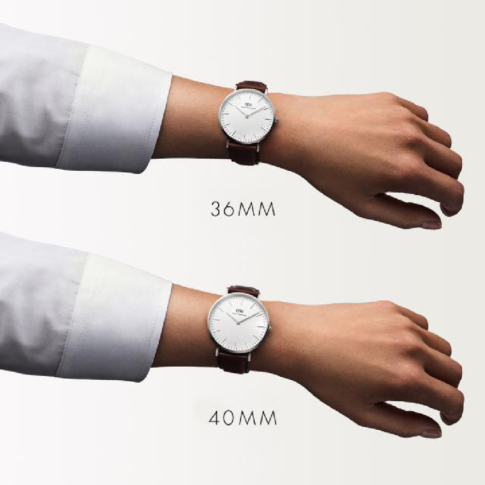 5595049d0f0098 Silver watch with brown leather strap Spring Summer Collection Daniel  Wellington