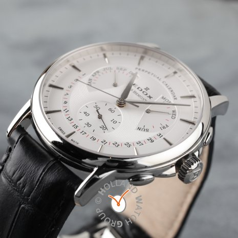 Swiss Made Watch with Perpetual Calendar Collection Printemps-Eté Edox
