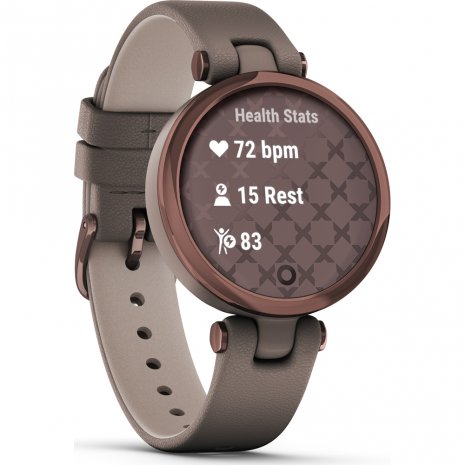 Bronze and Paloma ladies multisport smartwatch with leather strap Collection Printemps-Eté Garmin