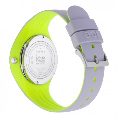 Light Grey & Yellow Silicone Watch Size Small Collection Printemps-Eté Ice-Watch