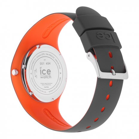 Anthracite & Orange Silicone Watch Size Medium Collection Printemps-Eté Ice-Watch