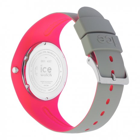 Khaki & Pink Silicone Watch Size Medium Collection Printemps-Eté Ice-Watch