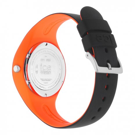Black & Orange Silicone Watch Size Small Collection Printemps-Eté Ice-Watch