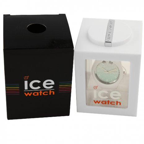 White Ladies Watch with Crystals Size Medium Collection Printemps-Eté Ice-Watch