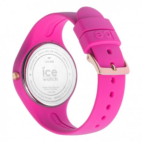 Pink & rose gold silicone watch Size Small Collection Printemps-Eté Ice-Watch