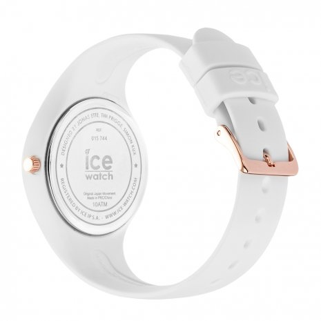 Rose Gold & White Silicone Watch Size Small Collection Printemps-Eté Ice-Watch