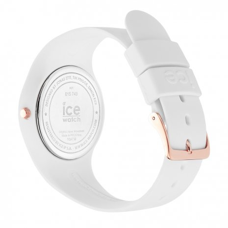 Rose Gold & White Silicone Watch Size Medium Collection Printemps-Eté Ice-Watch